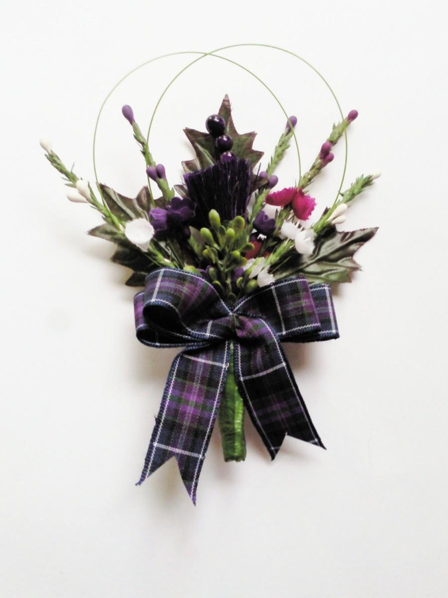 Свадьба - Stunning  Scottish Thistle Buttonhole for the Groom ,Best Man ,,Usher, Guest Wedding.