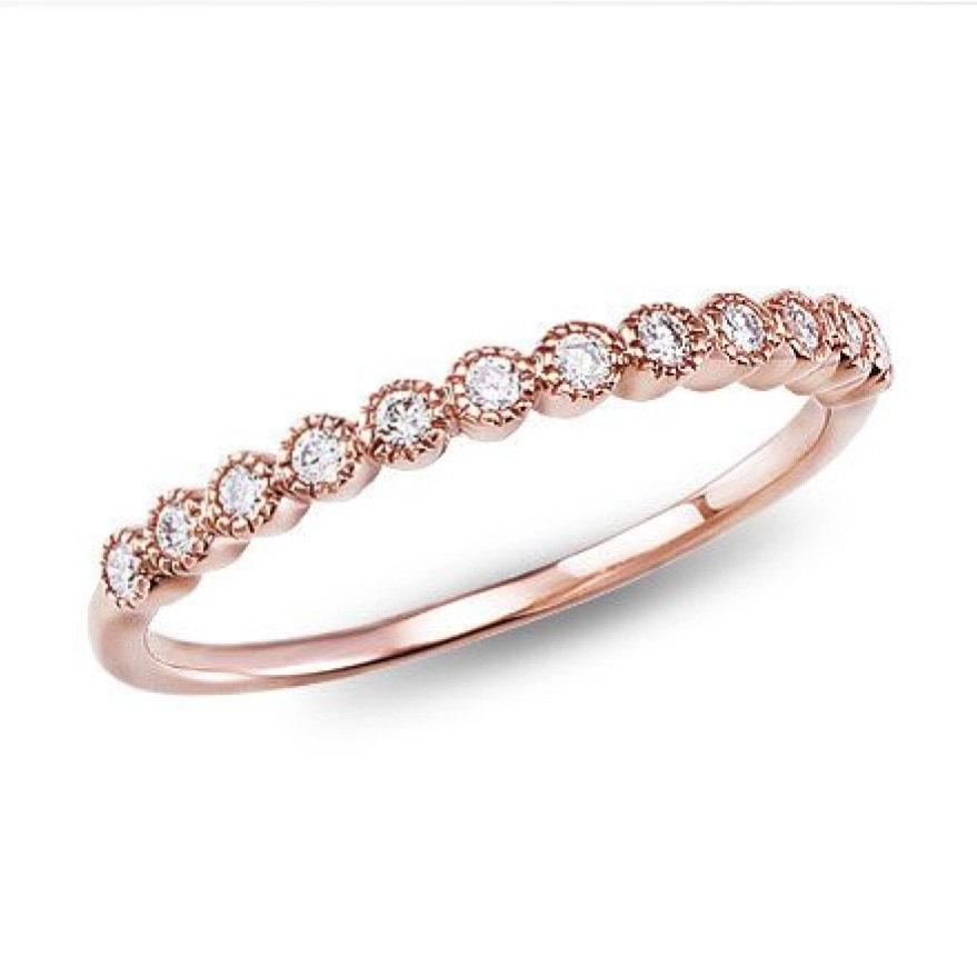 Mariage - Half Round Design Ring - Wedding Band Swarovski Ring - Wedding Ring - Half Round Ring - Half Round Wedding Ring - Valentine's Day Gift