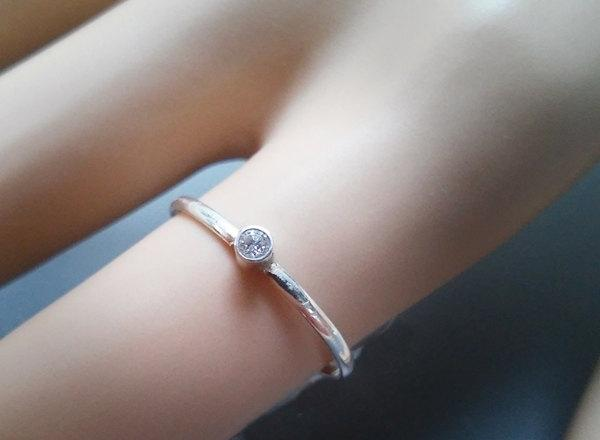 Свадьба - Just In Time For V Day! 14k / 18k White Diamond Solitaire, Diamond Engagement Ring, Diamond Stacking Ring, Recycled Gold, Conflict Free