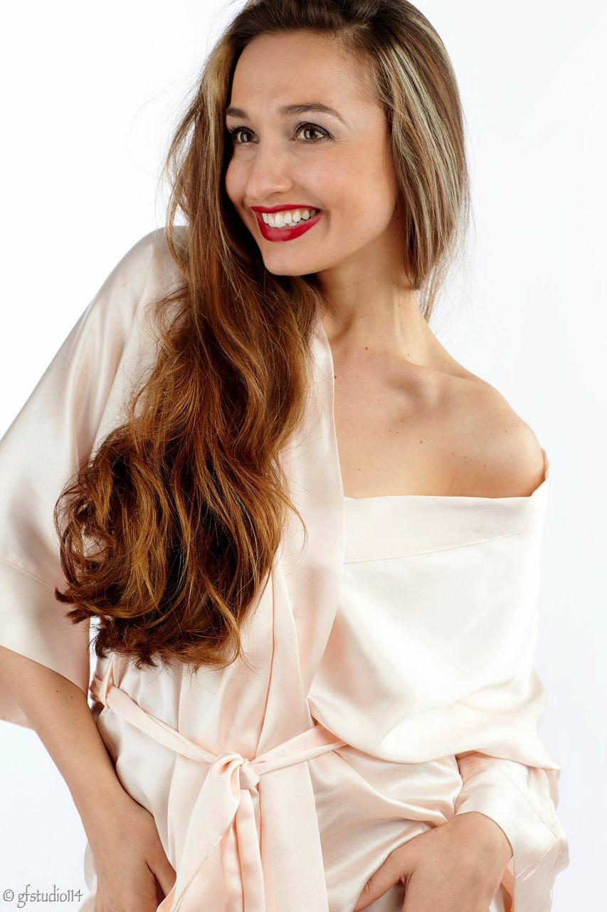 Свадьба - Pale Pink Kimono robe. Gift for her.  Silk robe Bridemaids robe Cream Silk robe Brides robe.