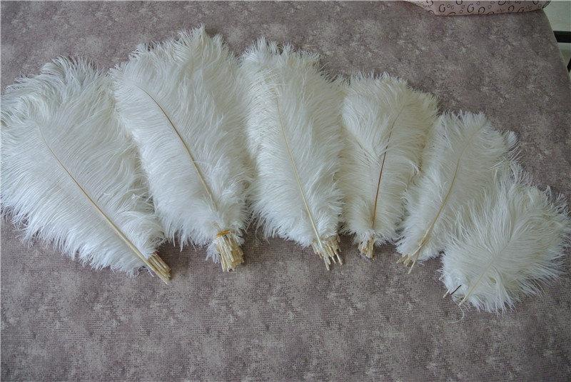 Свадьба - 100 pcs white ostrich feather plumes for wedding centerpieces wedding decor party event supplies