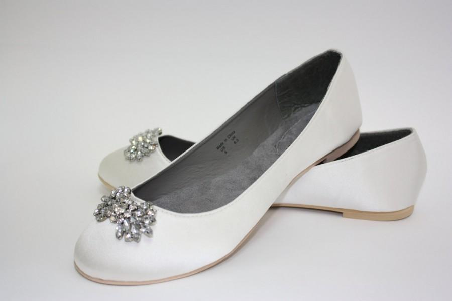 Свадьба - Wedding Flats Available In 14 Color Choices - Closed Toe Wedding Flat - Crystal - Comfortable Wedding Shoe - Ballet Wedding Flats - Parisxox
