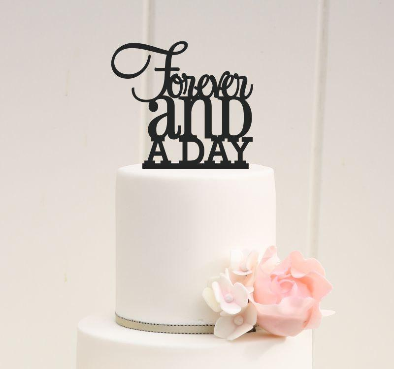 Свадьба - Custom Wedding Cake Topper Forever and a Day Cake Topper