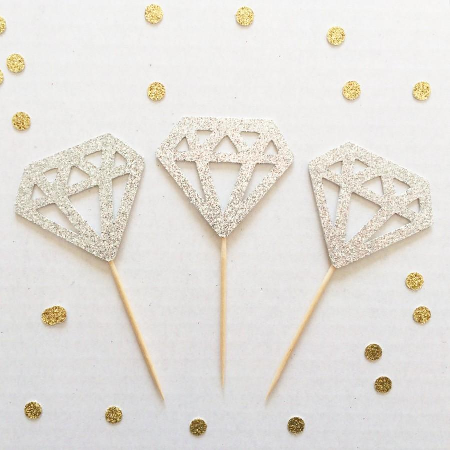 Diamond Ring Donuts Diamond Cupcake Toppers Set Of 12 Perfect