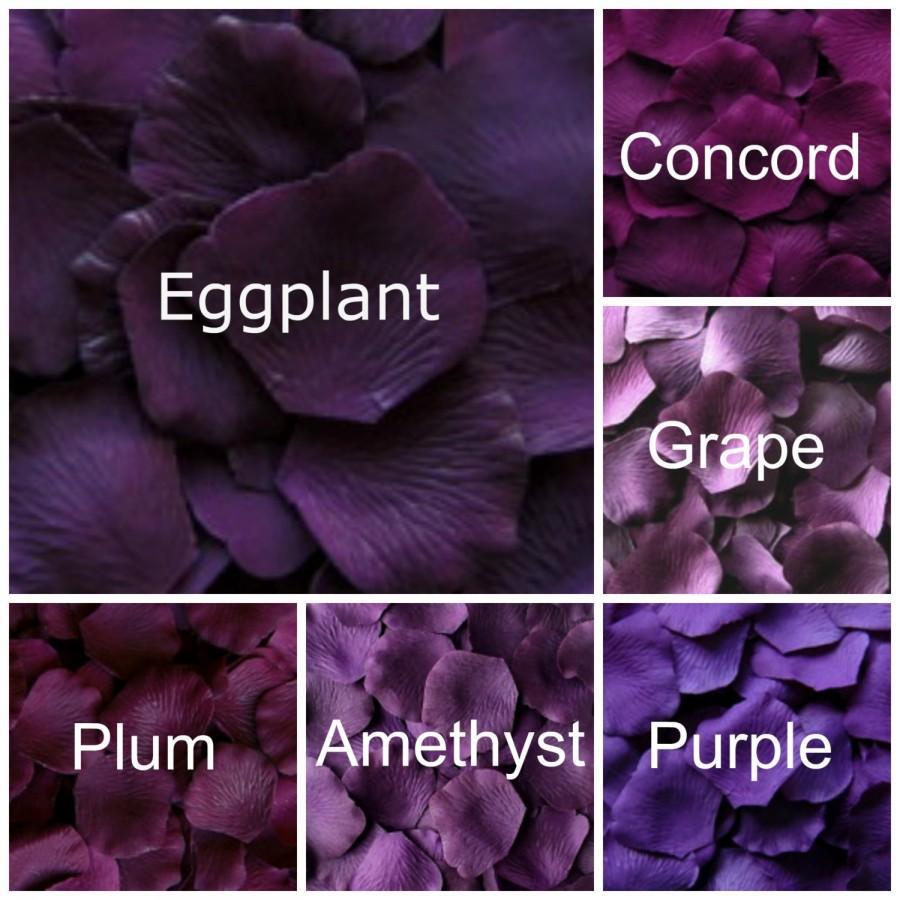 Mariage - Dark Purple Silk Rose Petals, 300 petals