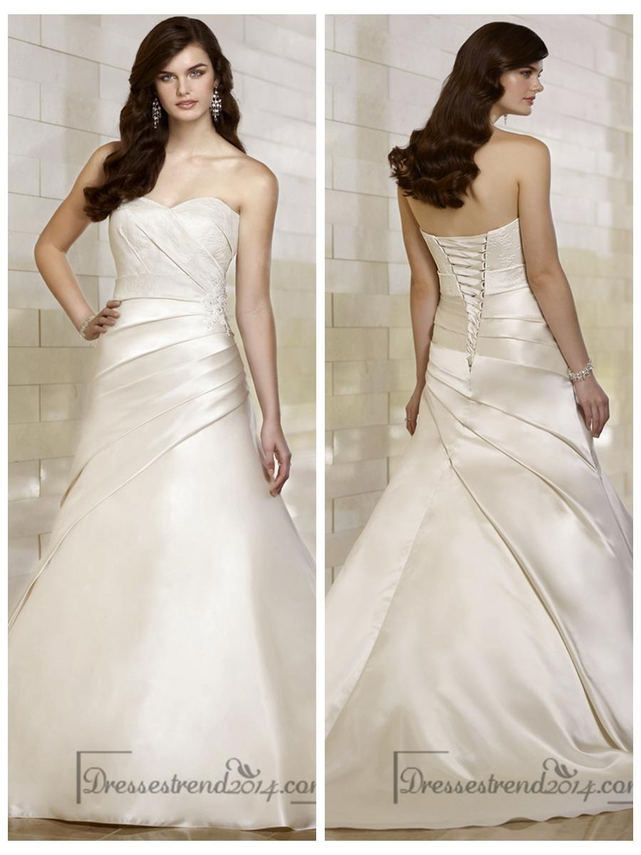 زفاف - Stunning Trumpet Sweetheart Wedding Dresses with Asymmetrical Pleated Skirt