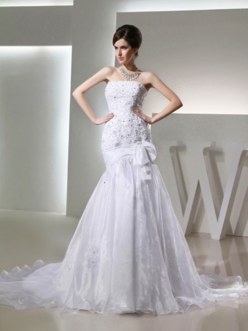 Свадьба - romantic a line wedding dress