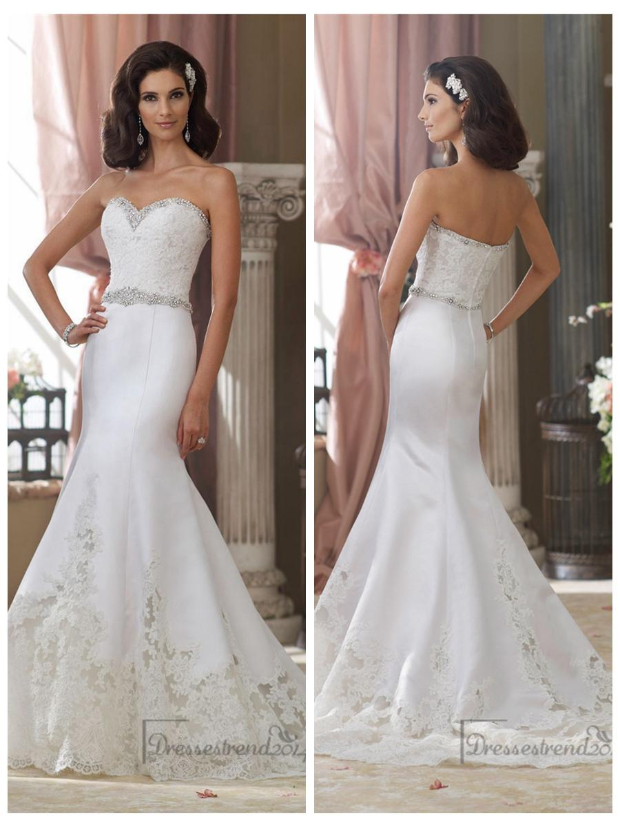 beaded sweetheart lace appliques mermaid wedding dresses