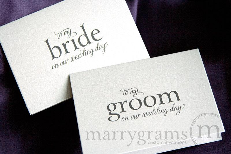... Wedding Day - Groom Gift, Bridal Card from Husband to Wife - Day-Of
