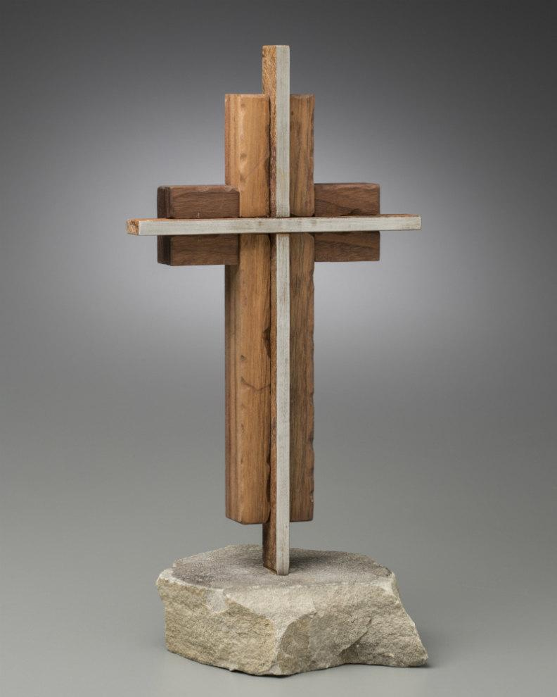 The Unity Cross Steel And Weathered Solid Black Walnut 2450159