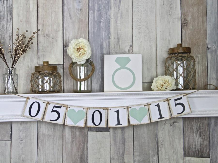 Hochzeit - Save the Date Banner, Save the Date Sign, Rustic Save the Date Sign, Save the Date Sign Engagement