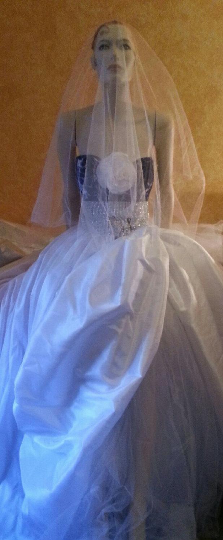 Sle Gown Listing Denim Diamonds Tie Dye Corset White Taffeta Illusion Diamond Wedding Ball Skirt Set Party Dressby Special Order: Wedding Dresses With Denim At Websimilar.org