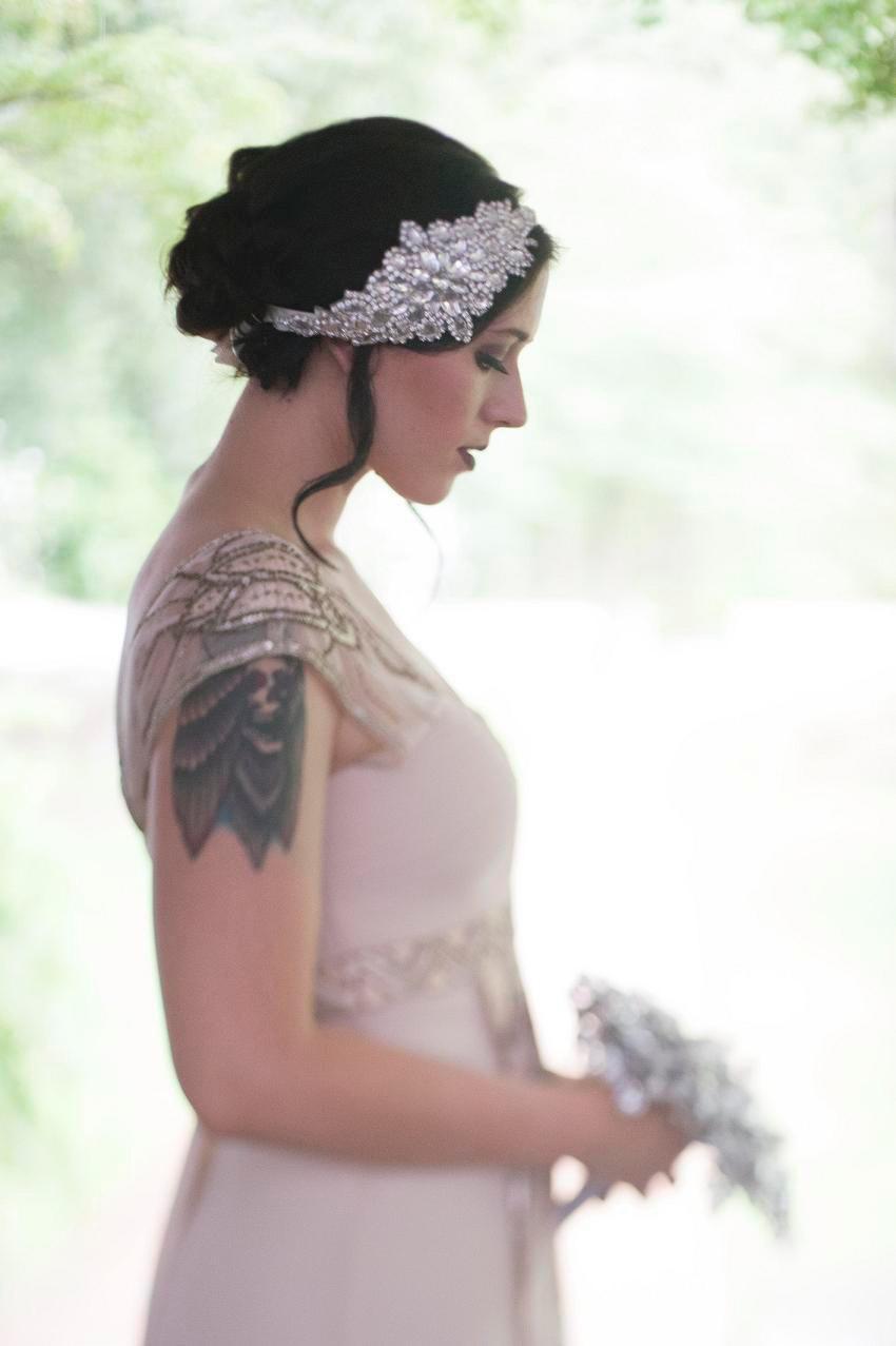 Mariage - Glamour Rhinestone flapper Gatsby Headband, Wedding Headband, Crystal Headband, Wedding Headpiece, Bridal Headpiece, 1920s Flapper headband