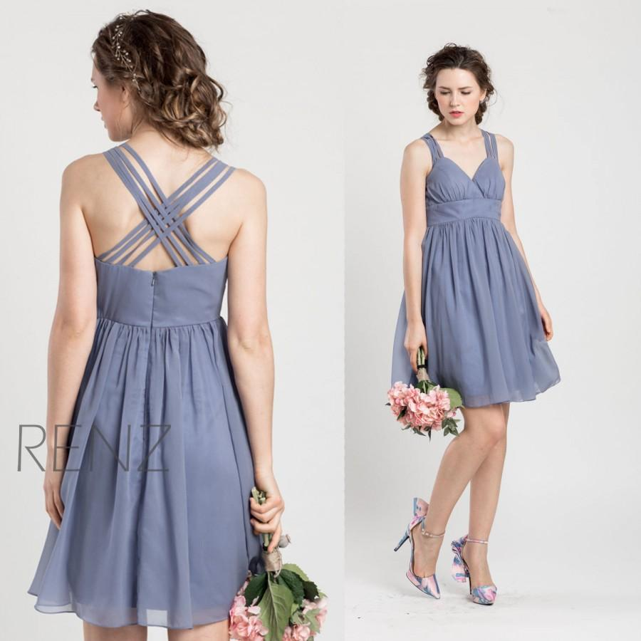 2015 Slate Blue Bridesmaid Dress Blue Grey Wedding Dress Criss ...