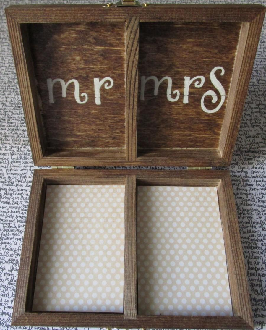 Свадьба - Ring Bearer Box - Rustic Wedding - Rustic Ring Box