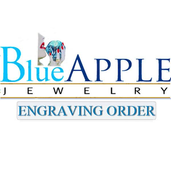 "Свадьба - Blue Apple Jewelry Engraving Order For Chelsea Couey  Engraving Letters ""My Love"" Regular Machine Engraving"
