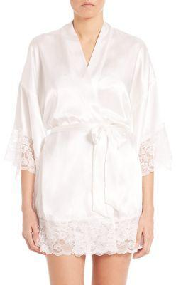Свадьба - In Bloom The Bride Satin & Lace Wrapper Robe