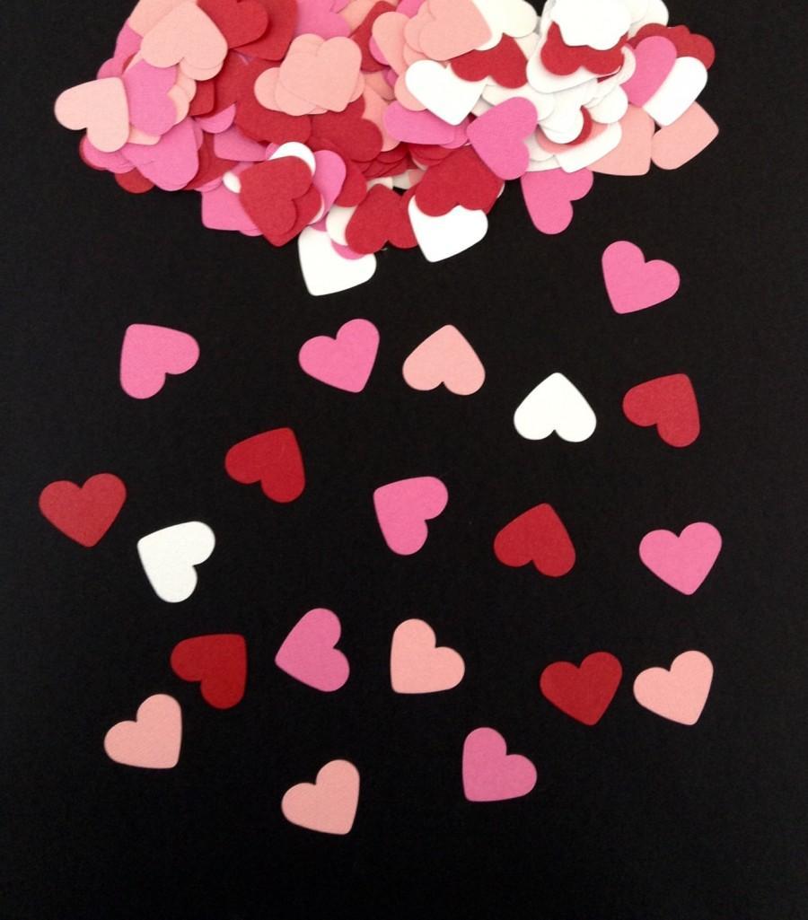 Свадьба - 500 Mixed Colour Hearts - Heart Confetti