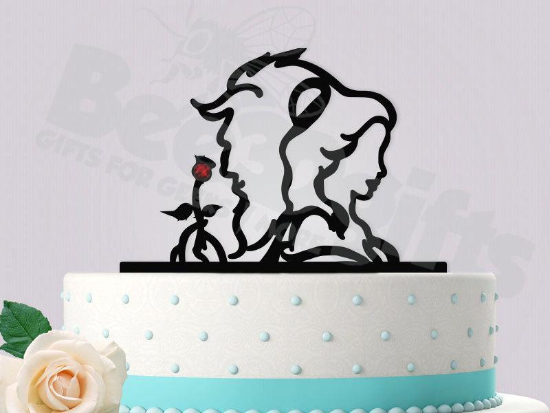 Decor - Beauty And The Beast Wedding Cake Topper #2450385 - Weddbook