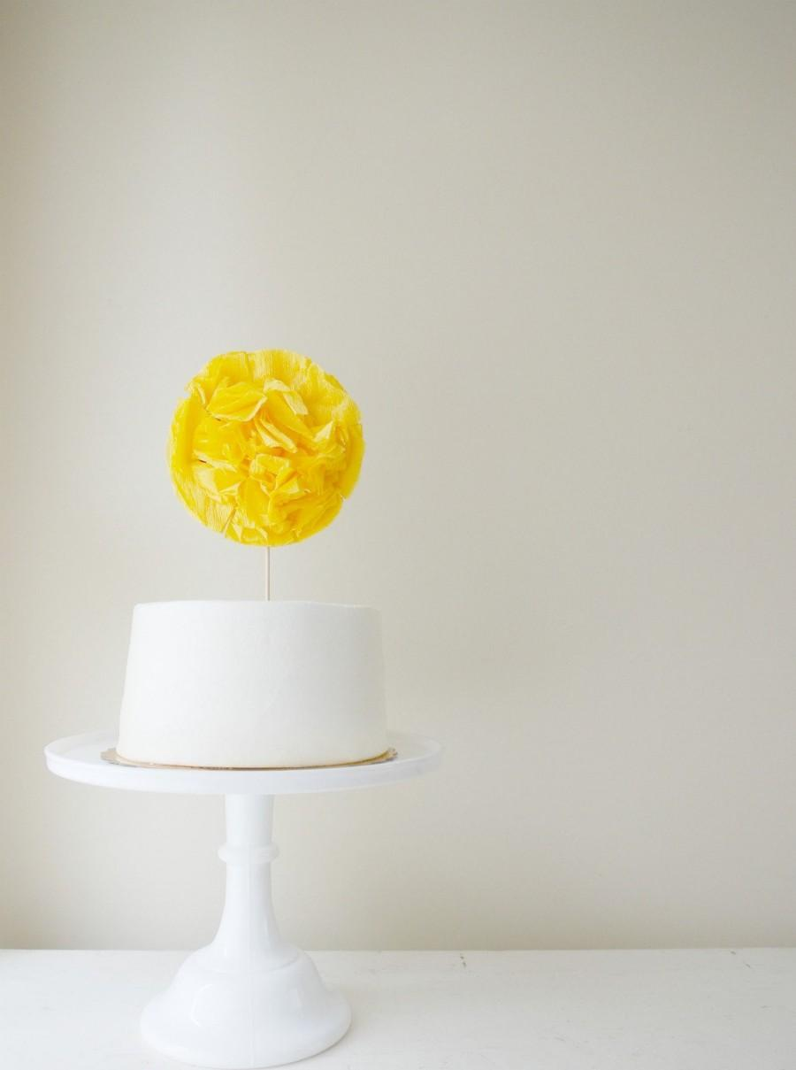 Свадьба - Oversized Cake Pom with Complimentary Custom Message Sash