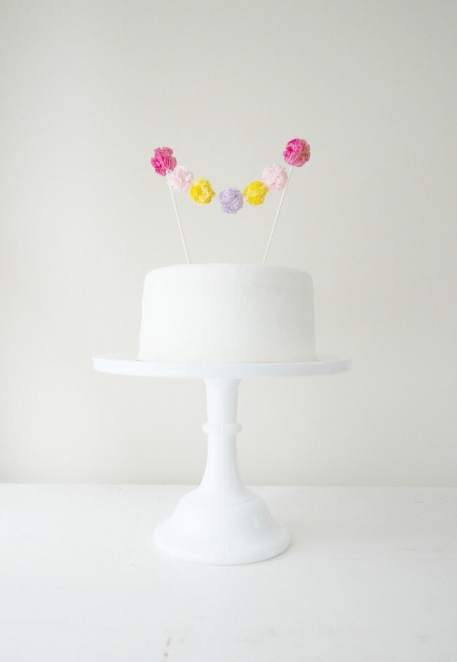Свадьба - Cake Pom Garland