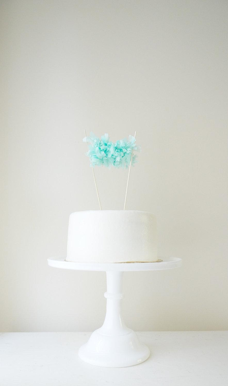 Свадьба - Fringe Garland Cake Topper