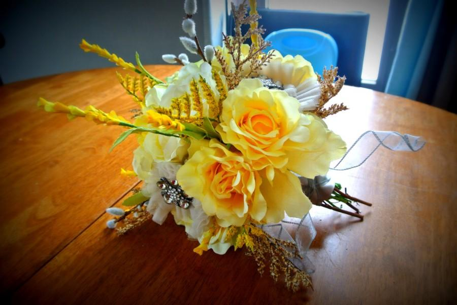 Mariage - Fancy Yellow Rustic Bouquet