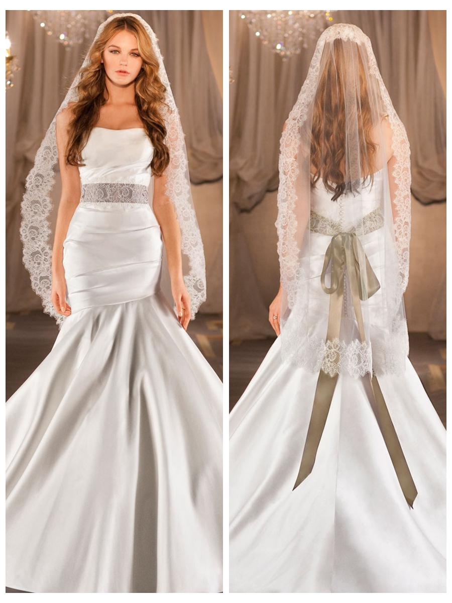 Свадьба - Elegant Ruched Fit Flare Wedding Dress with Asymmetrical Dropped Waist Circular Skirt