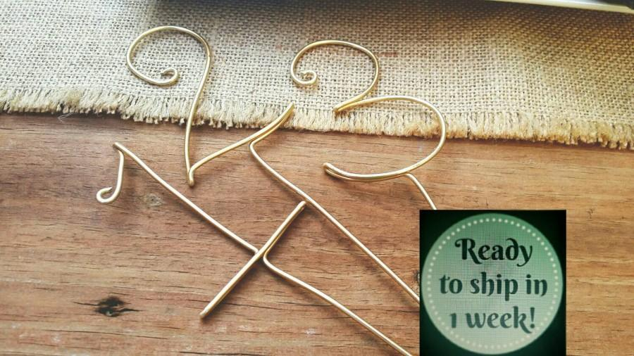 Свадьба - Wire numbers - rustic wedding - Guest table numbers with STICK  - wedding table numbers - wedding decor - Swirl table numbers - WiredTwist