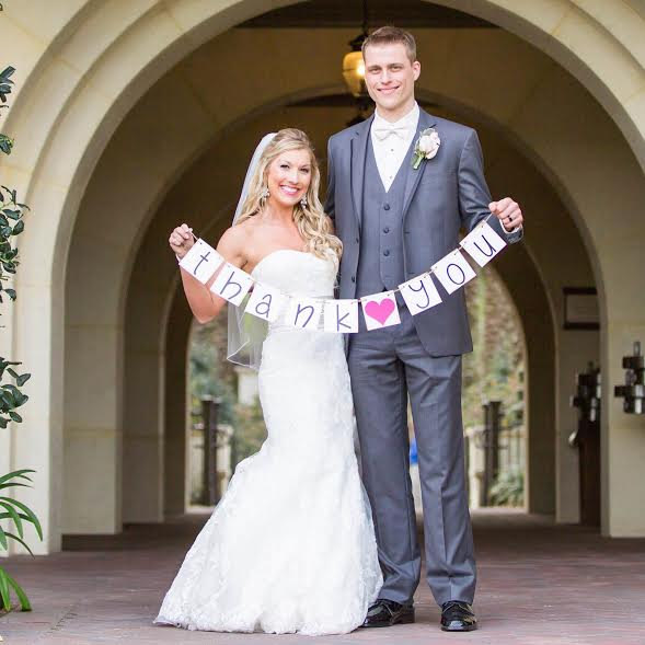 Hochzeit - Thank You Banner, Thank you Sign, Thank you Photo Prop, Wedding Thank You Sign