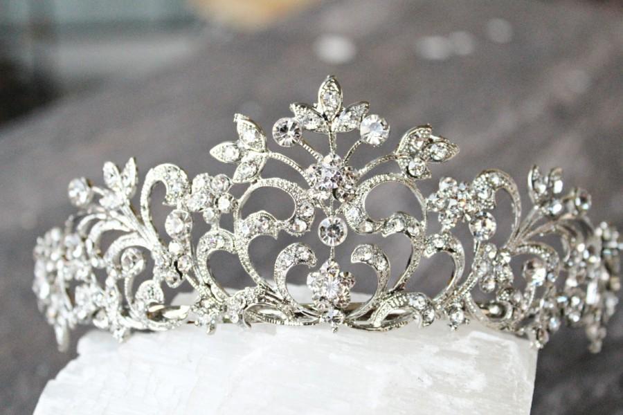 Свадьба - Bridal Tiara - ANNE, Swarovski Crystal Wedding Tiara, Silver Bridal Tiara, Crystal Wedding Crown, Rhinestone Tiara, Wedding Tiara