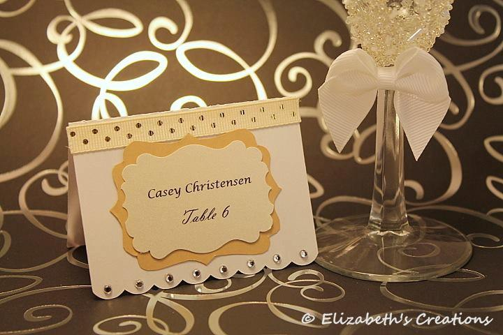 simply elegant white place card escort card name card tented