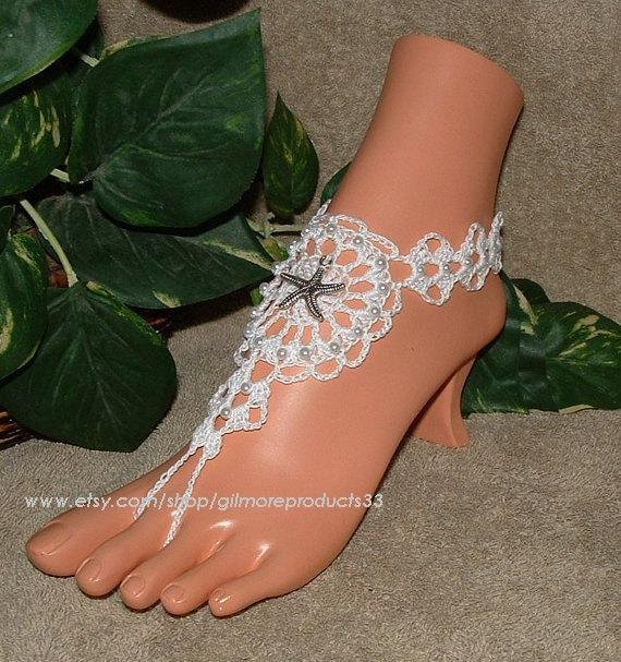 Wedding - Lace Wedding Shoes, Open Toe Lace Shoes, Ivory Wedding Lace Flats, Barefoot Sandals, Comfortable Flat Lace Wedding Shoes, I Do Shoes