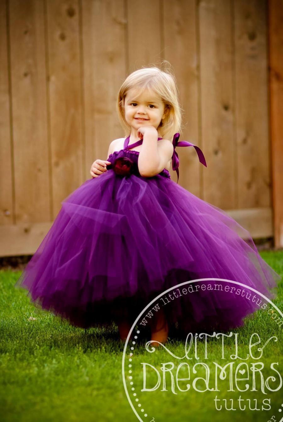 Boda - Perfectly Plum Flower Girl Tutu Dress
