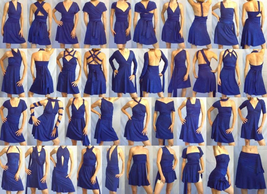 Свадьба - SAMPLE DRESS -- SHORT infinity dress -- try the dress style before committing to an order, Free-Style Dress, convertible dress, wrap dress