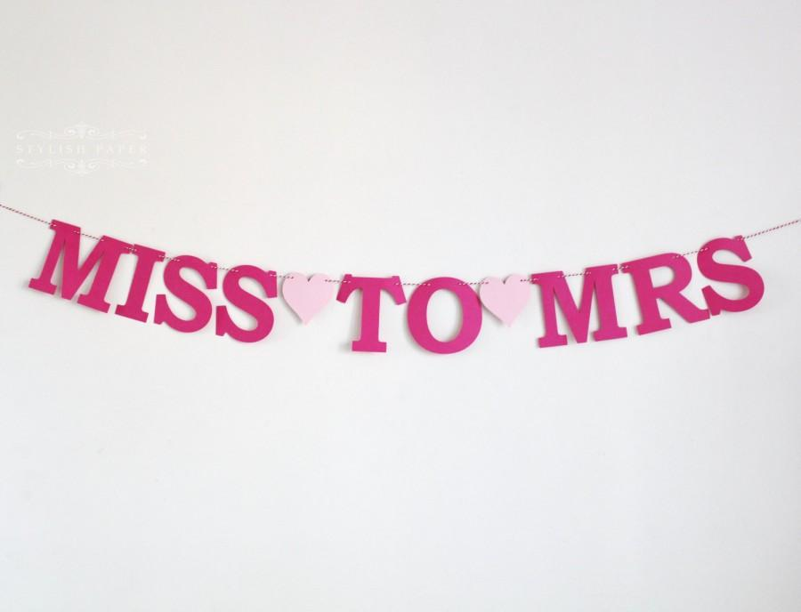 Miss To Mrs Letter Banner Hens Party Bunting Bridal Shower Decor Wedding Bachelorette Night