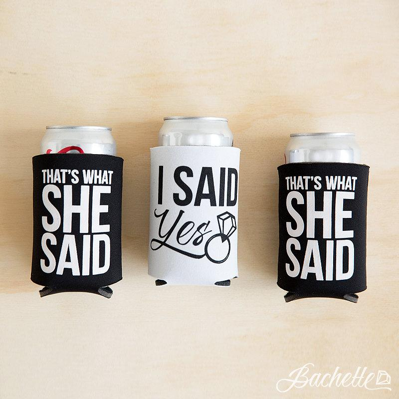 Mariage - Bachelorette Party Beer Can Coolers