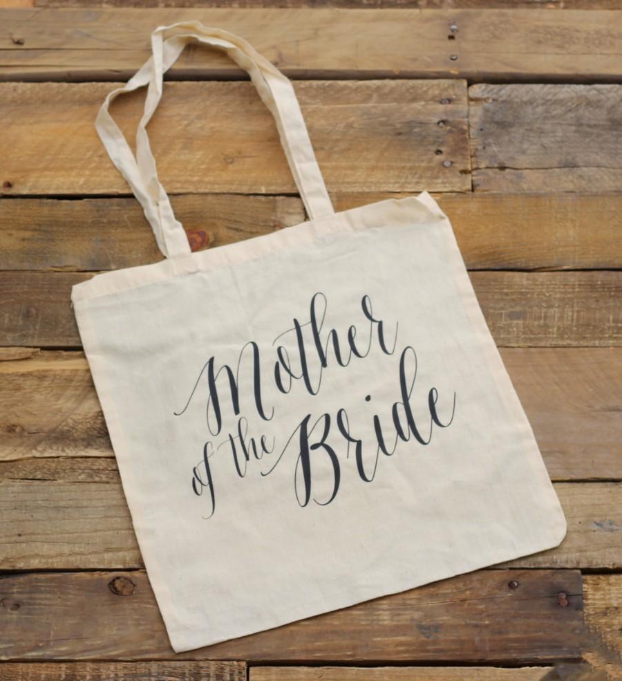 زفاف - Mother of the Bride Tote Bag - Natural Canvas - Mother of the Bride Gift, Wedding Tote Bags, Bridal Party Gift