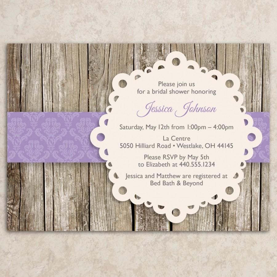 Rustic Bridal Shower Invitation   DIY Printable JPEG File   Vintage Bridal  Shower Invite   Baby Shower Invitation   Rustic Tea Party Invite