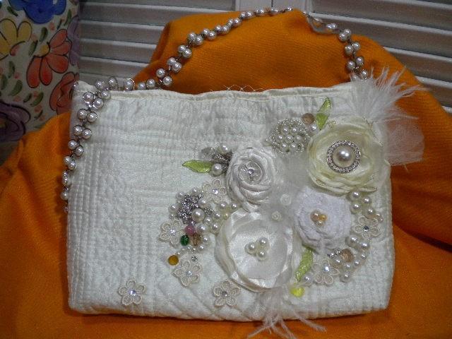 Свадьба - It's a  DREAM Come True Bridal  Clutch Bag Purse