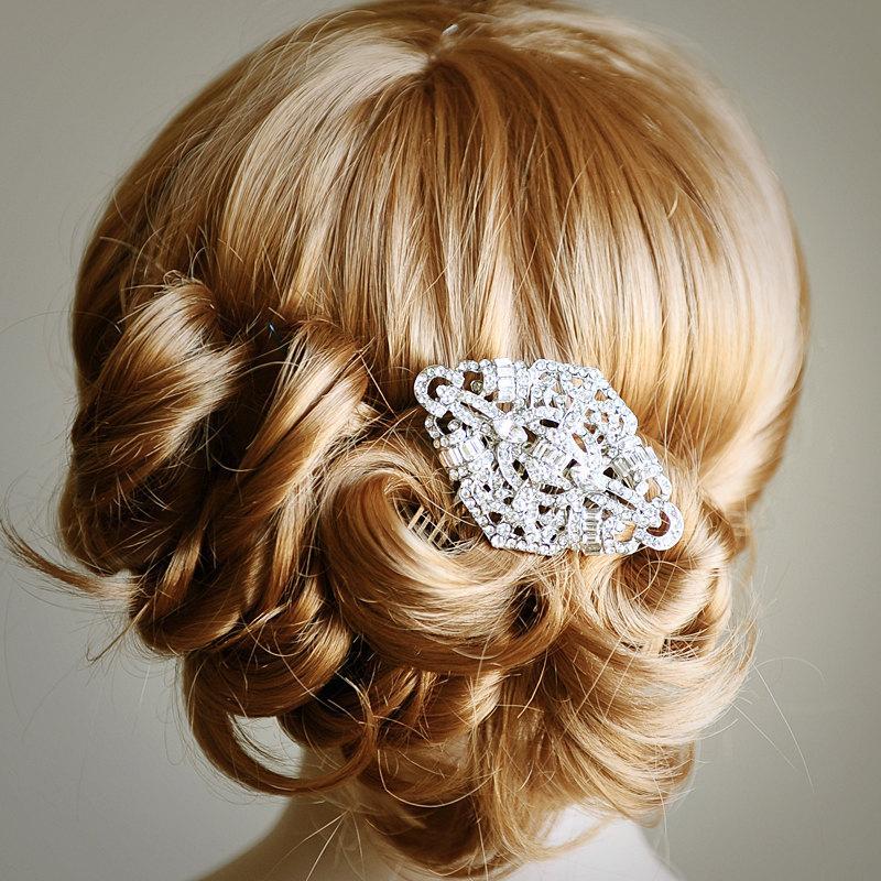 Tyne Bridal Hair Comb Art Deco Swarovski Crystal Wedding Hair Comb Vintage Style Wedding Rhinestone Hair Comb Bridal Wedding Headpiece 2450915 Weddbook
