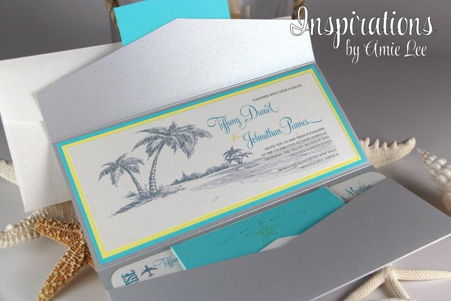 Hochzeit - Boarding Pass Wedding Invitations