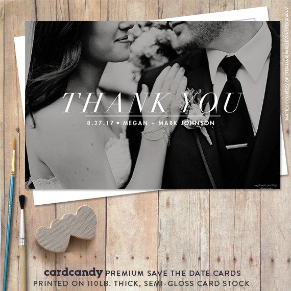 Hochzeit - Wedding Thank You Card Printable - Classic Thank You Postcard