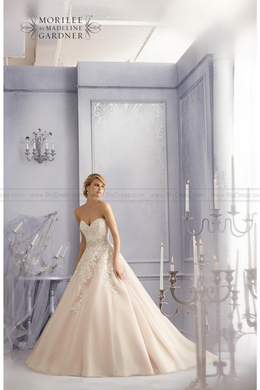 Wedding - Diamante beaded embroidery and sparkling lace mori lee 2690 wedding gown