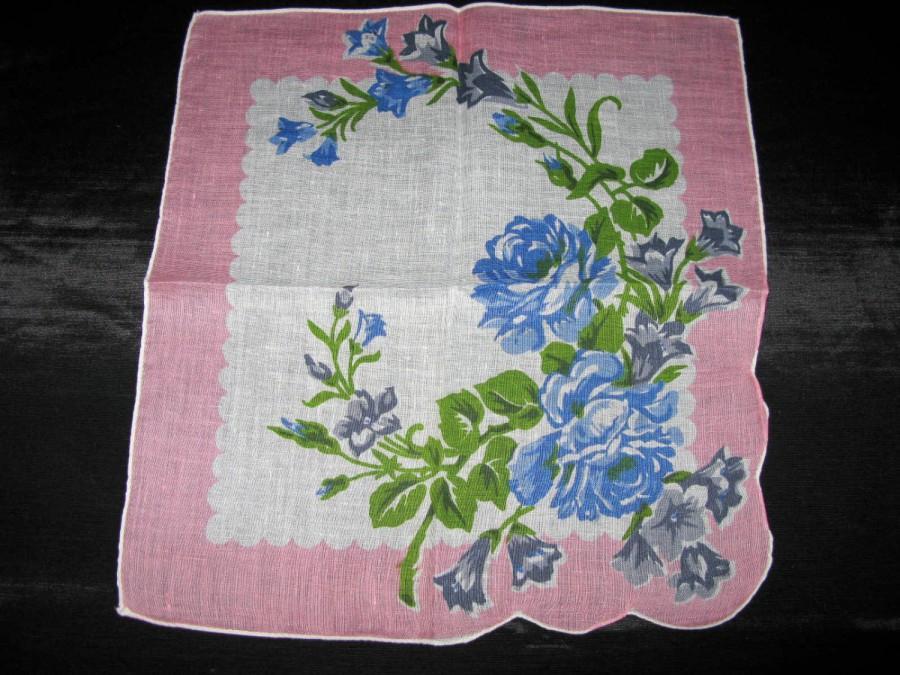 Mariage - Wedding Something Borrowed, Handkerchiefs Rose Hanky Roses Hankies