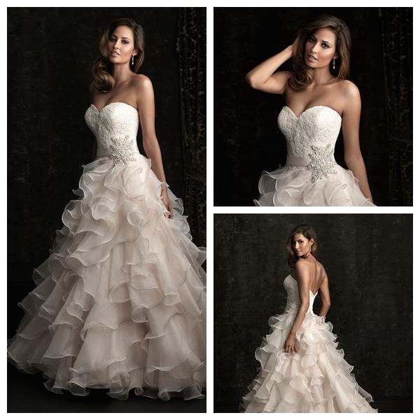 Wedding - A-line Sweetheart Floor Length Allure Designer Wedding Dress Style 8955