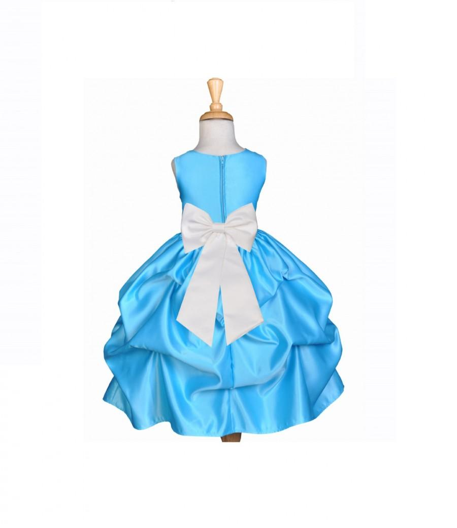 2019 year looks- Flower Toddler girl dresses turquoise pictures