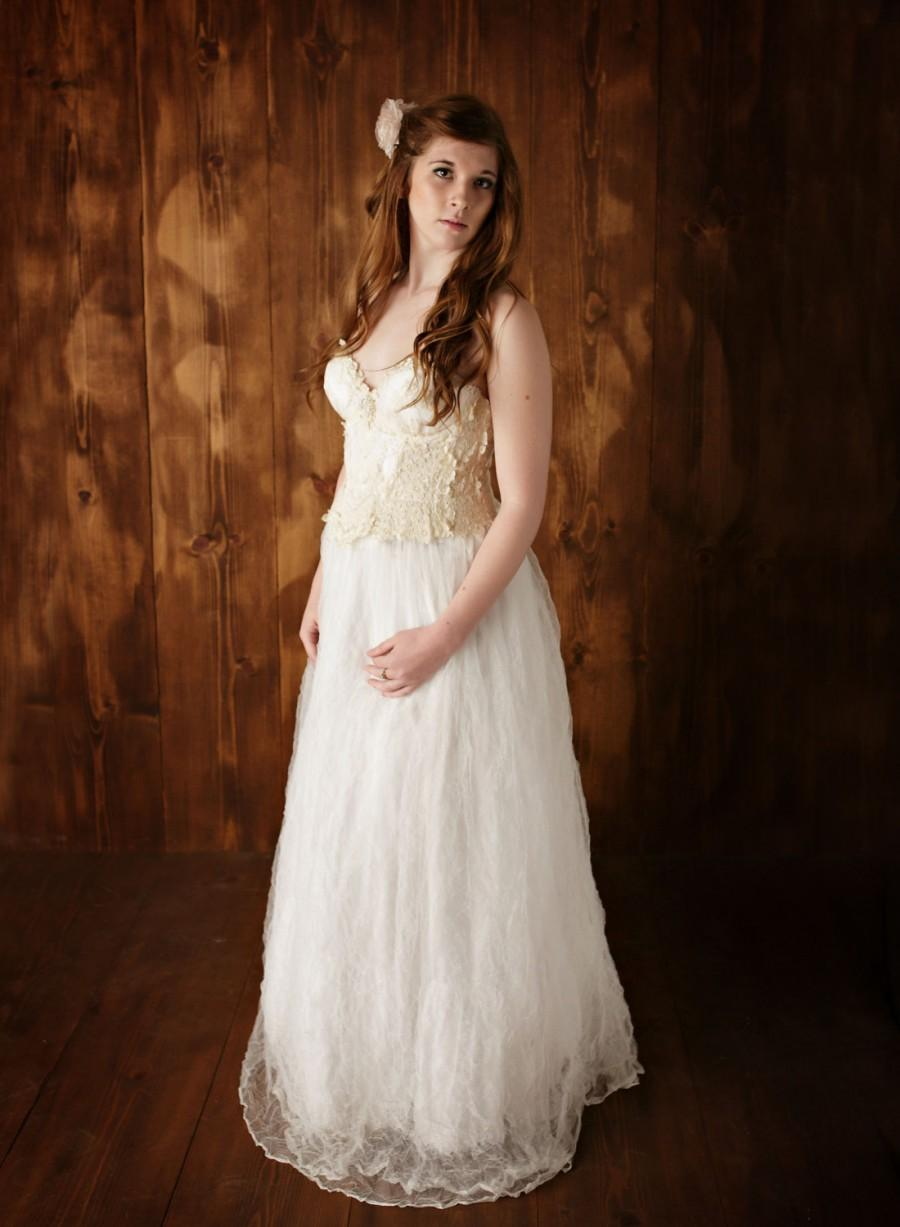Unique Lace Wedding Dresses : Unique lace wedding dresses vintage ivory dress