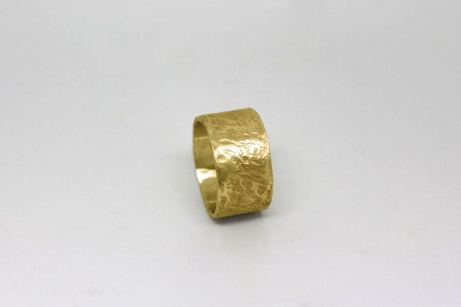 bands solid media gold wide yellow women band ring wedding