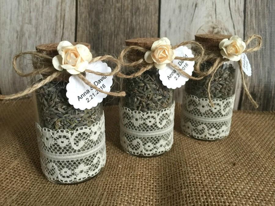 Wedding Favors - Glass Bottle Lavender Bottles